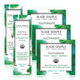 Made Simple Skin Care Oral Care Package USDA Certified Organic Raw Vegan NonGMO